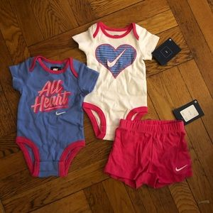 NWT Baby Nike Onesie and Shorts Set